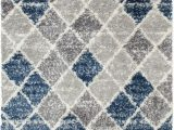 Blue Grey Shaggy Rug Union Rustic Lux Blue and Grey Woven Shag area Rug & Reviews