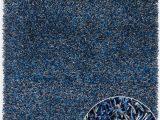 Blue Grey Shaggy Rug Zara Zar Blue Grey by Chandra Rugs