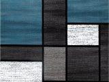 Blue Grey White area Rugs Box Pattern Gray Grey Blue White area Rug – Modern Rugs and