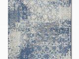 Blue Grey White area Rugs Gossamer Blue Grey area Rug