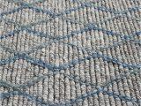 Blue Grey Wool Rug Luxury Madras Felted Wool Rug Blue Grey