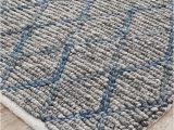 Blue Grey Wool Rug Negola Luxury Madras Felted Wool Rug Blue Grey