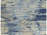 Blue Grey Wool Rug Tibetan Vibrations Blue Gray Wool Rug