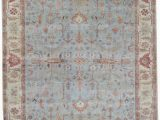 Blue Ivory area Rug Exquisite Rugs Serapi Hand Knotted 3335 Light Blue Ivory area Rug