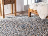 Blue Jean Rugs for Sale Denim Jeans with Jute Handmade Braided Rug Blue Denim area Rugs Avioni Premium Collection 122 Cm Round