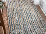 Blue Jean Rugs for Sale Denim Jeans with Jute Handmade Braided Rugs Runner for Bedside Hallway or Kitchen Avioni Premium Collection 56×140 Cm