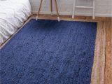 Blue Jute area Rug Navy Blue 5 X 8 Braided Jute Rug Ad Blue Navy
