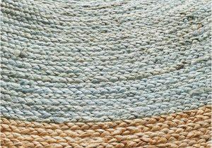 Blue Jute Rug Round Round Jute Natural Rug Blue