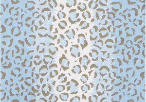 Blue Leopard Print Rug the Rug Market Kids Fufu Leopard Blue Blue and Brown