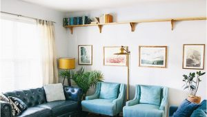 Blue oriental Rug Living Room Living Room Makeover Reveal In Honor Design
