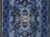 Blue oriental Rug Runner Blue Persian Rug oriental Turkish Carpet Silk Rug Tabriz
