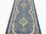 Blue oriental Rug Runner Emirates Traditional Long Persian Runner area Rug Light Blue Gray Beige Brown Design 520 31 Inch X15 Feet 8 Inch