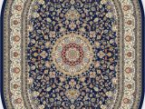 "Blue Oval area Rugs Dynamic Ancient Garden Blue Oval 2 7"" X 4 7"" area Rug Anov 801"