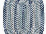 Blue Oval area Rugs Lettie Geometric Wool Blue area Rug