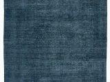 Blue Overdyed area Rug 8×13 Blue oriental Wool area Rug 2291