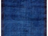 """Blue Overdyed area Rug Blue Over Dyed Turkish Vintage Rug 5 8"""" X 9 8"""" 68 In X"""