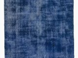 """Blue Overdyed area Rug Blue Over Dyed Turkish Vintage Rug 6 8"""" X 11 2"""" 80 In X 134 In"""