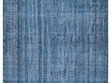 """Blue Overdyed area Rug Blue Over Dyed Turkish Vintage Rug 6 X 9 8"""" 72 In X 116"""