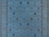 Blue Overdyed area Rug Overdyed Hand Knotted Blue area Rug