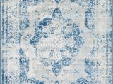 Blue Pattern area Rug Brandt oriental Blue area Rug