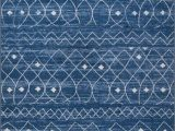 Blue Pattern area Rug Moroccan Trellis Diamond Pattern area Rug Blue Handcraft