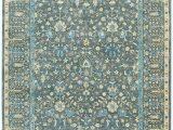 Blue Persian area Rug Izmir Persian Cedars Dusty Blue area Rug