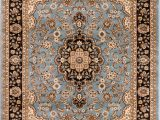 Blue Persian area Rug Noble Medallion Light Blue Persian Floral oriental formal Traditional area Rug