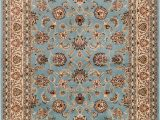 Blue Persian area Rug Noble Sarouk Light Blue Persian Floral oriental formal Traditional area Rug