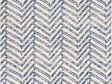 """Blue Reverse Herringbone Rug Geometric area Rug 8 10"""" X 12 In 2020"""