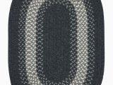 Blue Ridge Braided Rugs Serafin Geometric Wool Charcoal area Rug