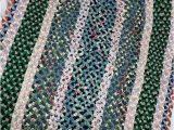 Blue Ridge Braided Rugs Vintage Hand Braided Rug Braided Rug Vintage Rug Hand Made Rug