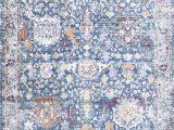Blue Rug with Fringe Folktime Fading Floral Fringe Blue Rug In 2020