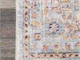 Blue Rug with Fringe Folktime Floral Dream Fringe Light Blue Rug In 2020
