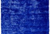 Blue Shaggy area Rug Handmade Shag Navy Blue area Rug