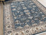 Blue Tan area Rug Amer Rugs Arcadia Dark Blue Tan Rectangular area Rug Ararc5