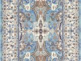 Blue Tan area Rug Duckett oriental Light Blue Gray Tan area Rug