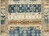 Blue Tan area Rug Momeni E Of A Kind Super Kazak Capsule area Rugs