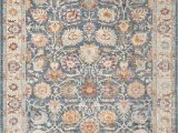"Blue Transitional area Rugs Ill710m Color Blue Creme Size 2 3"" X 8"