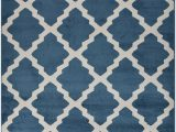 "Blue Trellis area Rug Fy Collection Trellis area Rug Lattice Modern Contemporary Rug 4 Color Options Teal Blue 18"" X 30"" Mat"