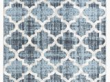 Blue Trellis area Rug Rug and Decor Capri Collection Blue Trellis area Rug
