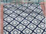 "Blue Trellis area Rug Tangier Blue Indoor Outdoor Moroccan Trellis area Rug 5×7 5 3"" X 7 3"" High Traffic Stain Resistant Modern Traditional Carpet"