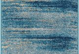 "Blue Tribal area Rug Well Woven Layla Stripes Blue Tribal area Rug 20×31 20"" X 31"" Mat soft Plush Faded Abstract Modern Carpet"