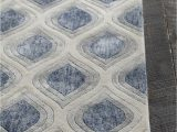 Blue White and Grey Rug Clara Collection Hand Tufted area Rug In Blue Grey & White