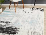 Blue White and Grey Rug Willow Abstract Rug Blue White Black Grey