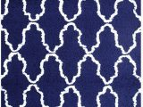 Blue White Shag Rug Superior Hand Woven and soft Shag Rug Trellis Collection Navy Blue White 4 Feet by 6 Feet 4 X 6