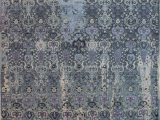 """Blue Wool Rugs 8×10 Jaldar Blue Hand Knotted 8 1"""" X 10 0"""" area Rug 902"""