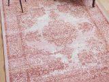"Blush Pink area Rug 5×7 Lyon Blush Pink Vintage Medallion Short Pile Kilim Style Modern 5×7 5 3"" X 7 3"" area Rug Antique Weathered oriental Multi Color Pattern"