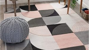 "Blush Pink area Rug 5×7 Well Woven Maggie Blush Pink Modern Geometric Dots & Boxes Pattern area Rug 5×7 5 3"" X 7 3"""