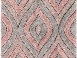 "Blush Pink area Rug 5×7 Well Woven Moira Pink Geometric Trellis Thick soft Plush 3d Textured Shag area Rug 5×7 5 3"" X 7 3"""