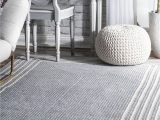 Braided area Rug 5 X 8 Braided Kaila Pinstripe Border area Rug Color Gray Size